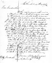 1843 letter to grandmother from Northumberland