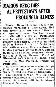Obituary of Maion Berg