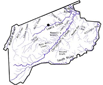John Maxwells land was located south of Beverley's Mill Place Lewis Creek, in the headwaters of Maxwell's Branch