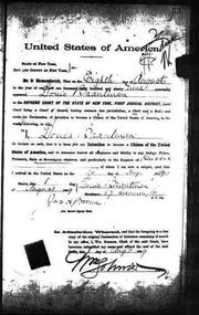 1889 declaration of intent to become a citizen