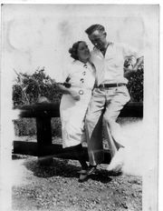 Anna Goosen and Frank Areklet at Western MI University before 1938
