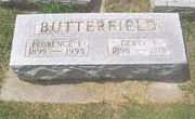 Tombstone of Dewey and Florence Butterfield
