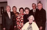 Walt Weaver, Frieda, Viola, May, Fred and Ralph Beal, and Elsie Weaver