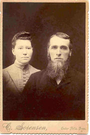 Jesse Lichty Beal and Esther Harriet Kelso on their wedding day