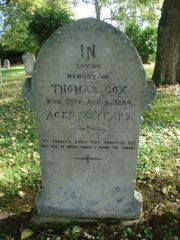 Close up of Thomas's grave.