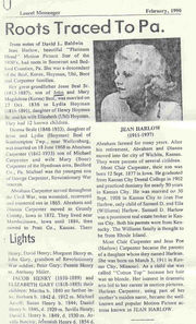 Article on Jean Harlow Family