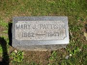 Graceland Cemetery, New Castle, Lawrence Co, PA - Mary Jane Hawkins Pattison