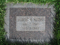 Elbert Nixon's headstone