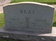 Tombstone of Lloyd and Nora Beal