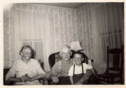Lena and Bertel Areklet with only grandson John Frank Areklet, 1949