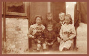 Winifred, Albert and their four children in about 1920.