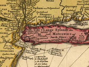 Location of Gravesend shown on Vischer's Map of 1685