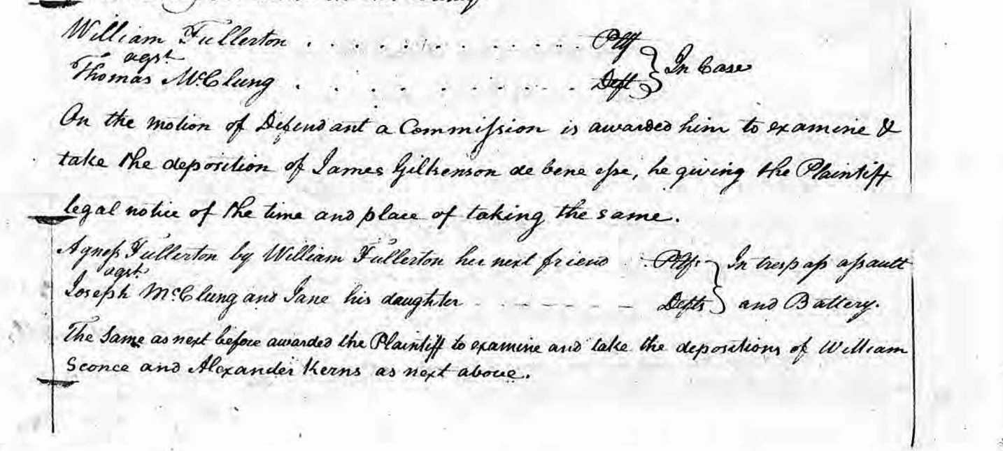 Image:William Fullerton vs Thomas McClung suit 22 August 1782 Greenbrier VA.jpg