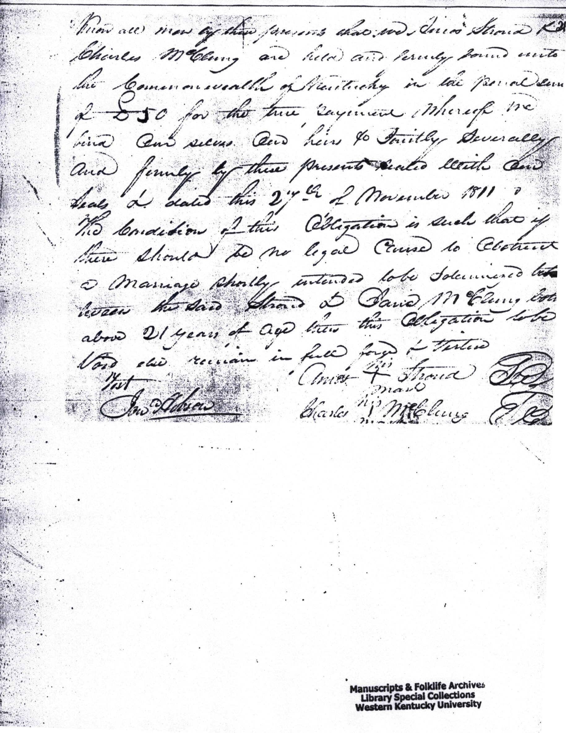 Image:Marriage Bond Amos Strode and Jane McClung Warren County Kentucky 1811.jpg