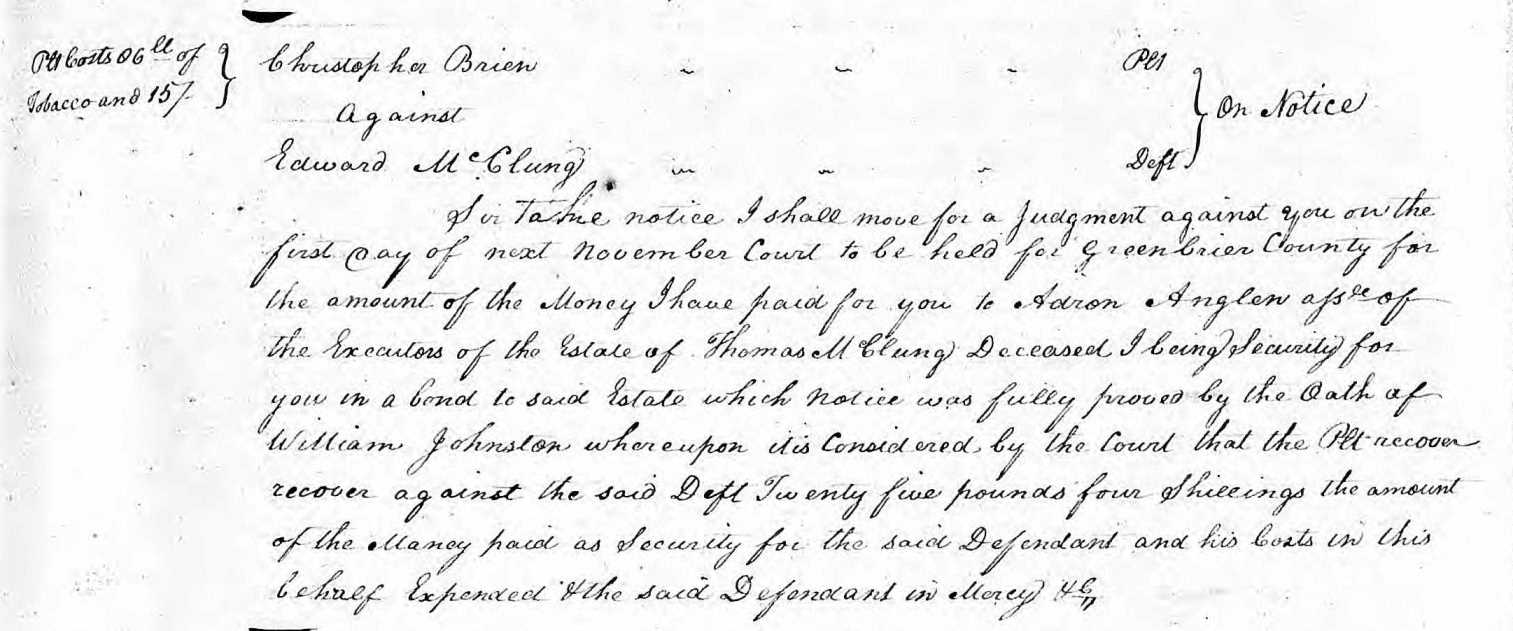 Image:Edward and Thomas McClung 30 March 1792 Greenbrier Court Minutes.jpg