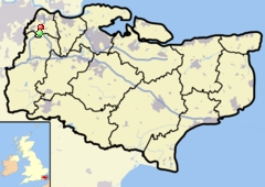 Darenth =red dot, Horton Kirby=Green dot; both in Kent County