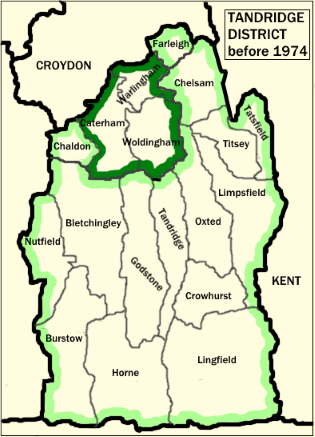 Image:Tandridge District before 1974.png