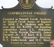 Kentucky Mile Marker #1924, Campbellsville College