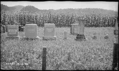 Cowan family Cemetery about 1940, prior to inundation by the waters of Douglas Lake.