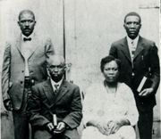 This photo shows four of the Bennett children - From left to right, Isaac, Gabriel, Susan and Ezekiel.