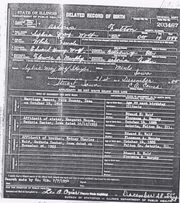 Delayed Record of Birth of Original Copy dated 1889