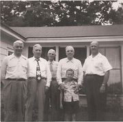 Leo Huntington, Charles Beal, Ed Beal, Dewey Butterfield, Bobbie and Lambert Lowe about 1950
