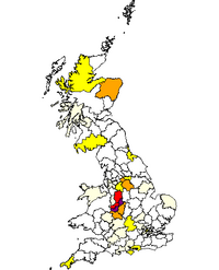 Distribution of Longmore in England