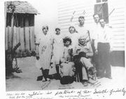 William Coleman Smith, wife and family: girls L to R: Catherine, Vee, Ava, boys: J.T., Ernest, Dyer