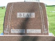 Tombstone of Roy C. and Bertha F. Beal