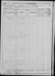 Lyons Family, 1870 Census