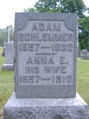 ADAM SCHLEMMER stone at Falls Cemetery