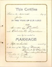 Original Marriage Certificate
