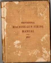 Cover of 1917 Gun Manual