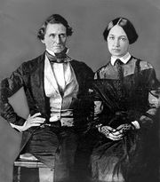 Jefferson Davis, at the age of 37, with his bride, Varina Howell. From a daguerreotype in the possession of their granddaughter, Mrs. George B. Webb, Colorado Springs, Colorado.