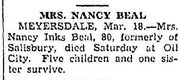 Obituary of  Nancy Inks Beal