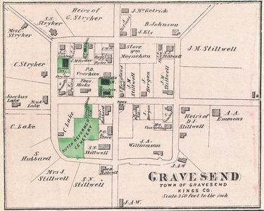 Map of Gravesend, Brooklyn, New York City, Geographicus - Gravesend-Beers-1873