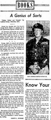 1964 book review of Patton: Ordeal and Triumph
