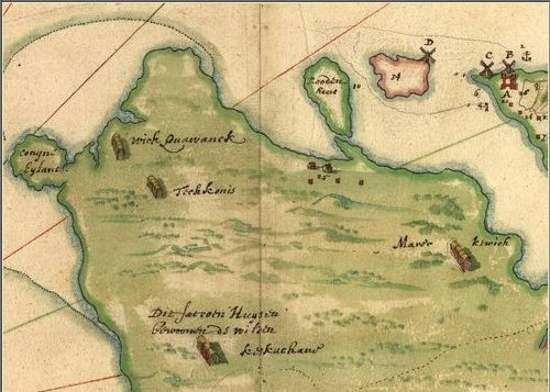 Detail from Vingboons map of 1639.