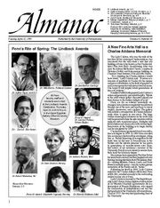 University of Pennsylvania Almanac article announcing the creation of the Charles Addams Fine Arts Hall (1995).