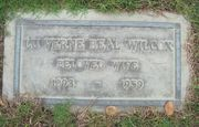 Tombstone of LuVerne Beal Wilcox at Forest Lawn Glendale, CA