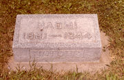 Tombstone of Naomi Miller Beal Butterfield