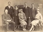 Michael (seated, left) at his brother Joseph's marriage in 1927 in Dublin.