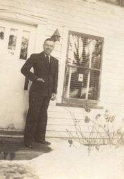 Glade Butterfield in McGregor, IA c. 1940's