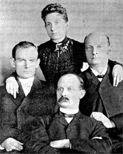 Taken sometime during the 1890s when the three brothers were incarcerated in the Territorial Prison. Henrietta moved to Minnesota to be near them and organized a Sunday School for the prisoners.