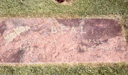 Tombstone of Jesse and Clara Beal